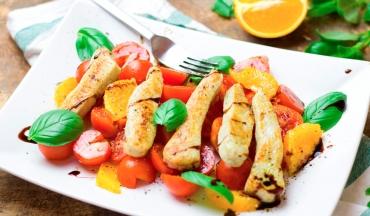 Salada Aromática de Frango
